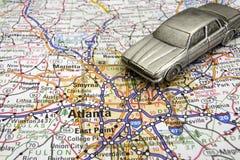 Conducción en Atlanta Foto de archivo libre de regalías