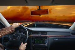 Conducción en coche Viaje de negocios Foto de archivo libre de regalías
