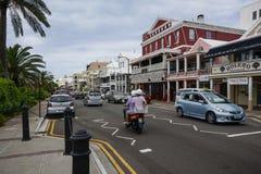 Conducción en la izquierda en Bermudas Imagen de archivo libre de regalías
