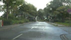 Conducción en la lluvia almacen de video