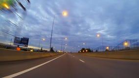 Conducción en la manera expresa almacen de metraje de vídeo