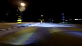Conducción en la noche Imágenes de archivo libres de regalías