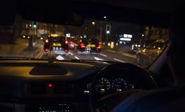 Conducción en la noche Fotografía de archivo