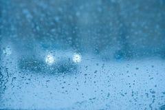 Conducción en lluvia Fotografía de archivo libre de regalías