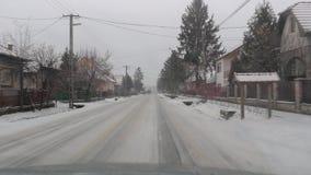 Conducción en nieve almacen de video