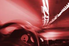 Conducción en túnel y luces Foto de archivo