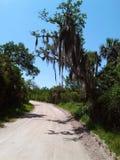 Conducción en un camino de tierra Fotos de archivo