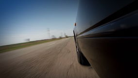 Conducción rápida en el mún camino almacen de video