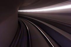 Conducción rápida en un túnel Fotos de archivo
