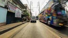 Conducción a través de Bangkok almacen de video
