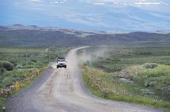 Conducción a través de Islandia Fotos de archivo libres de regalías
