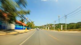 Conducción a través de Tailandia almacen de metraje de vídeo