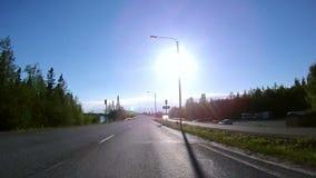 Conducción a través del puente de Guyed metrajes