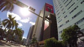 Conducción a través del vídeo céntrico de Miami 4k almacen de metraje de vídeo