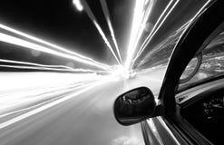 Conducción a la velocidad de la luz Imagen de archivo libre de regalías