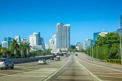 Conducción a Miami la Florida Fotografía de archivo