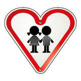 Conduce la protezione del bambino del segno Fotografia Stock Libera da Diritti