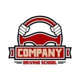 Conduciendo diseño del logotipo del ejercicio su compañía ilustración del vector