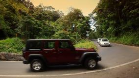 Conduciendo el camino a Hana (Maui, Hawaii) almacen de video