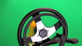 Conduciendo los controles para discapacitado aislado en verde