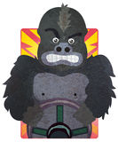 Conduciendo los humores - gorila stock de ilustración