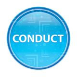Conduct floral blue round button. Conduct Isolated on floral blue round button royalty free illustration