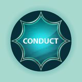 Conduct magical glassy sunburst blue button sky blue background. Conduct Isolated on magical glassy sunburst blue button sky blue background stock illustration