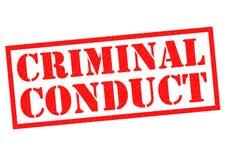 CONDUCTA CRIMINAL Imágenes de archivo libres de regalías