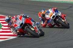 Conducteur Andrea Dovizioso Énergie Grand prix de monstre de la Catalogne MotoGP Image libre de droits