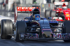 Conducteur Carlos Sainz Team Toro Rosso Images libres de droits