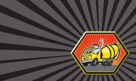 Conducteur Cement Mixer Truck de travailleur de la construction illustration stock