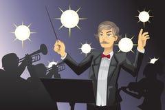 Conducteur d'orchestre illustration libre de droits