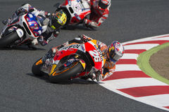 Conducteur Dani Pedrosa ÉQUIPE DE REPSOL HONDA Photos stock