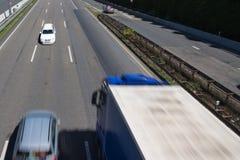 conducteur de Faux-manière sur une route image libre de droits