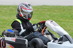 Conducteur de kart images libres de droits