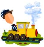 Conducteur de train Photographie stock libre de droits