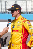 Conducteur de voiture d'Indy Ryan Hunter-Reay Photo libre de droits