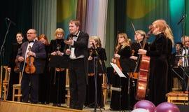 Conducteur et musiciants Photos libres de droits