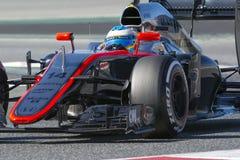 Conducteur Fernando Alonso mclaren l'équipe Image stock