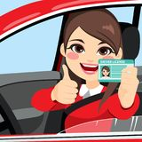Conducteur License de femme illustration stock