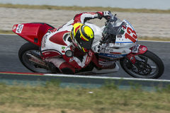 Conducteur Mario Lujan Honda CBR250R Photos stock