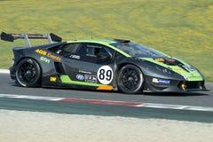Conducteur Nicolas Gomar Lamborghini Huracan Trofeo superbe Photos stock