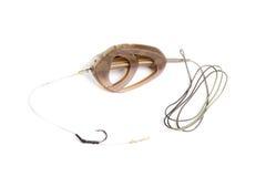 Conducteur pour pêcher équipé d'un crochet Image libre de droits