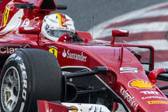 Conducteur Sebastian Vettel Team Ferrari Photographie stock