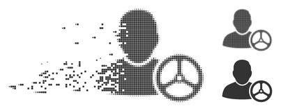 Conducteur tramé de disparition Wheel Icon de pixel Image stock
