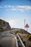 Conducteurs d'avertissement de panneau routier Image stock