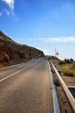 Conducteurs d'avertissement de panneau routier Photos libres de droits