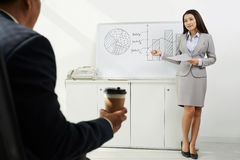 Conducting business presentation Stock Photography