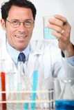 Conducting an experiment Stock Image