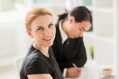 Conducting Negotiations with Business Partner Stock Images